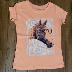 Girls Medium 10/12 Arizona horse tshirt